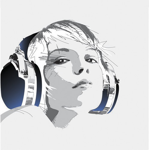 girl,headphone,headphones,music,illustration-27065f4052621ed175246266a0ba660e_h
