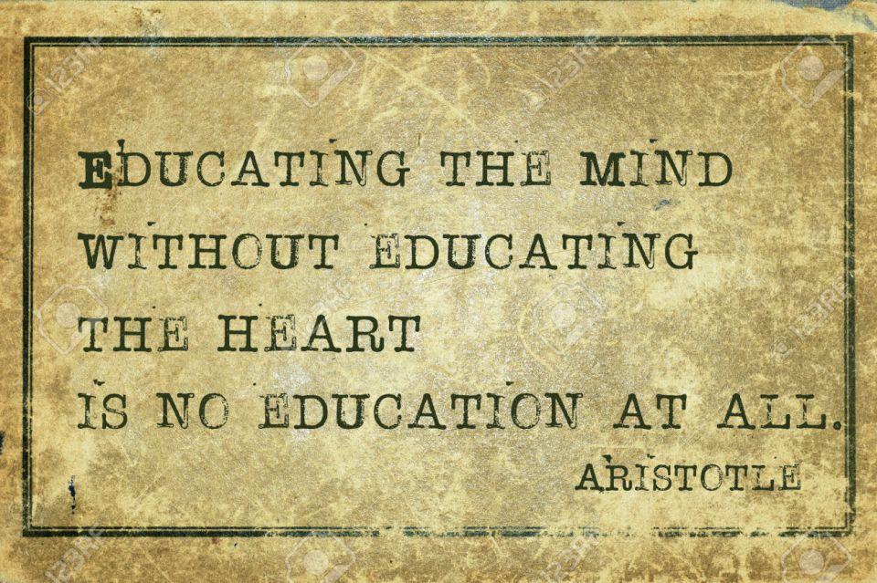 educating heart print