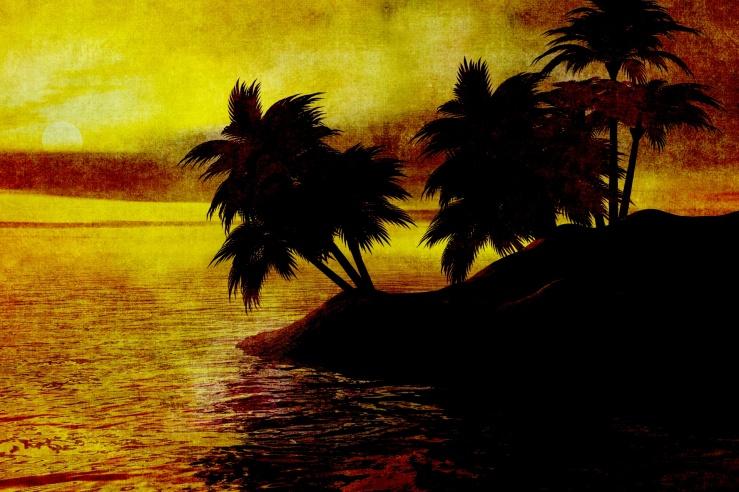 vintage-sunset-painting-island