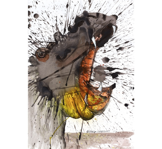 ralph-steadman-critical-critters-hippopotamus